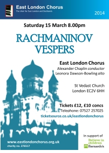 Flyer Rachmaninov Vespers
