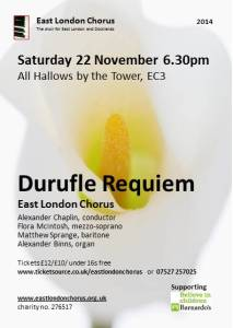 Flyer - Durufle Requiem November 2014
