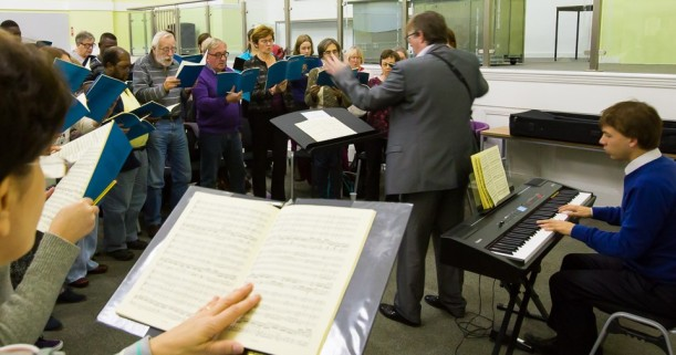 East London Chorus rehearsing for their November 2015 concert.