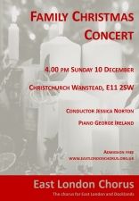 Flyer for Family Christmas Concert 2017